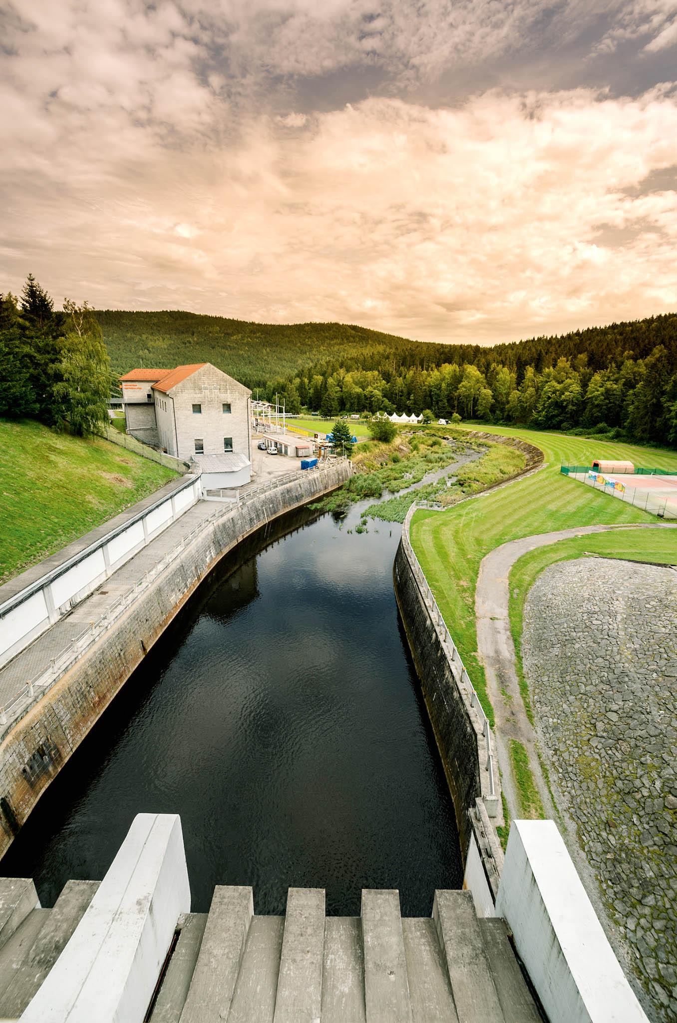 Vodní elektrárna Lipno v jižních Čechách