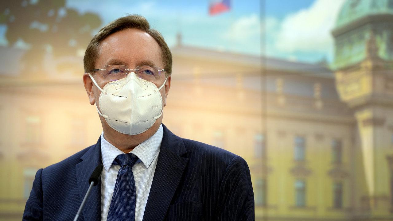 Ministr zdravotnictví Petr Arenberger (za ANO)