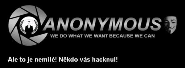 Vzkaz Anonymous - výřez