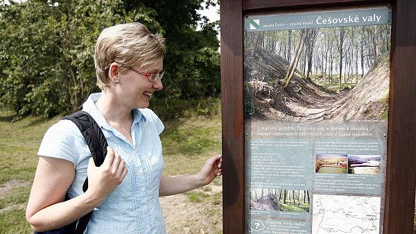 Marie Kulhánková stála u zrodu zdejší naučné stezky.