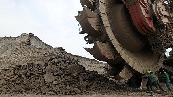 Povrchová těžba uhlí skupiny Czech Coal