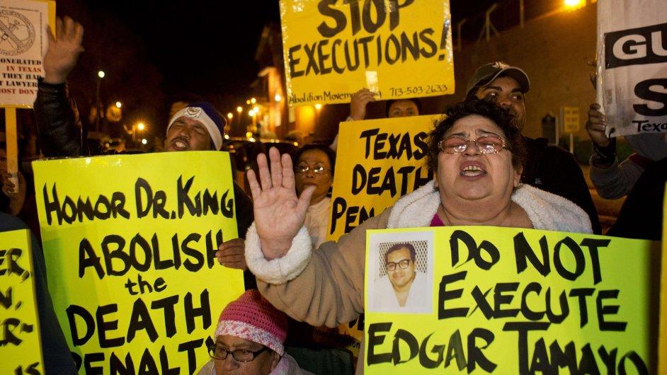Protesty proti Tamayově popravě