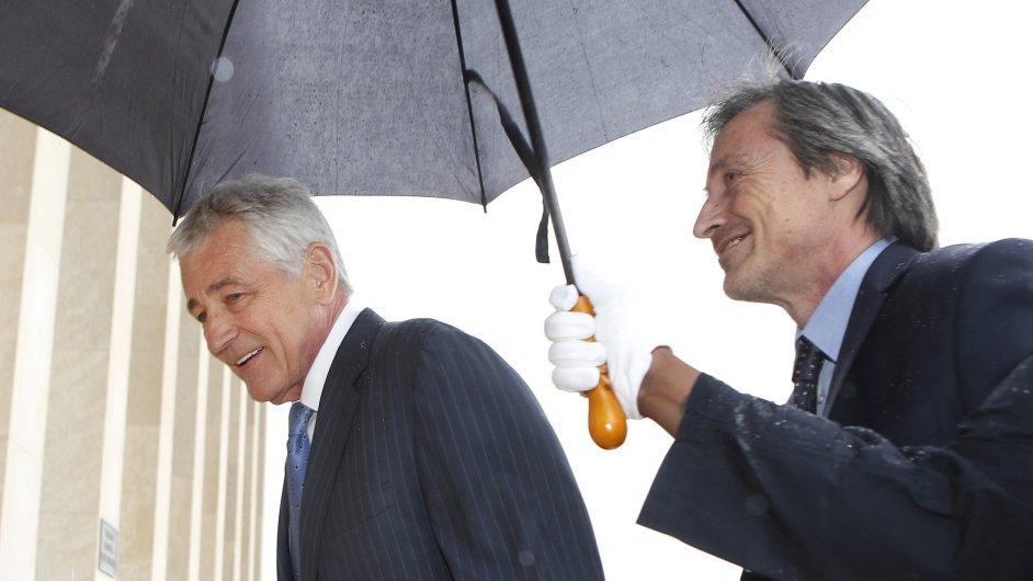 Ministři obrany USA a Česka Chuck Hagel a Martin Stropnický