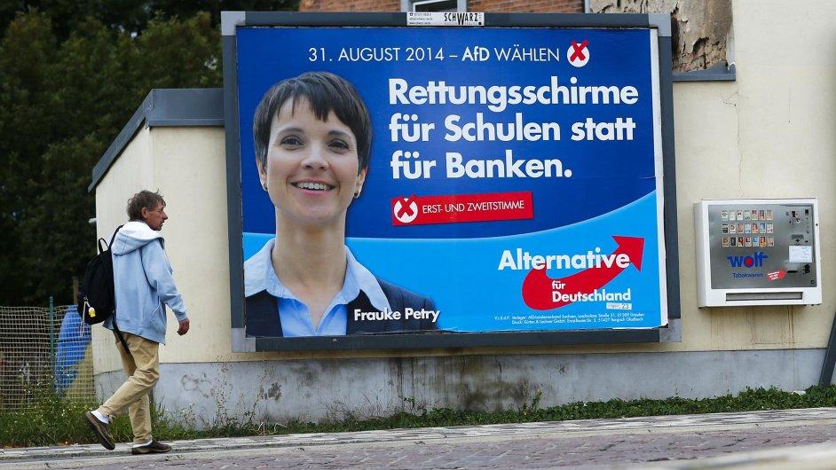 Předvolební plakát německých euroskeptiků