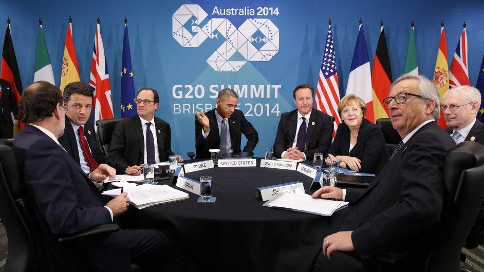 Jednání části lídrů G20 (ilustrační foto)