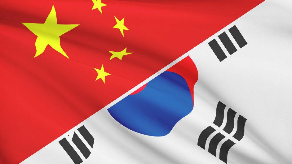 Čína a Jižní Korea - Ilustrační foto.