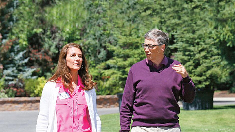 Bill a Melinda Gatesovi vlastní majetek v hodnotě 85,7 miliardy dolarů.
