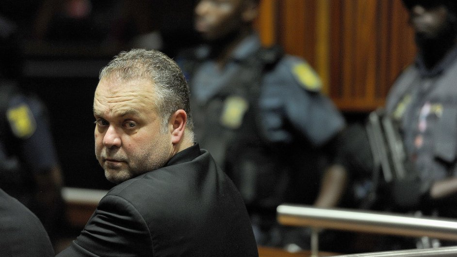 Czech fugitive Radovan Krejcir appears in the Palm Ridge Regional Court on Monday