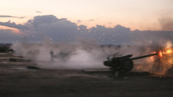 Isl�msk� st�t �el� syrsk� a ir�ck� ofenziv� - Ilustra�n� foto.