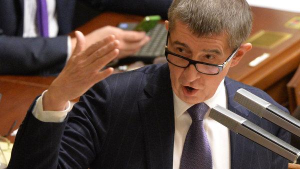Andrej Babiš v poslanecké sněmovně při hlasovaní o státním rozpočtu.