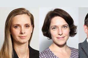 Blanka Vačkova, Hana Kollmannová a Miroslav Kotek, Associate Directors společnosti JLL