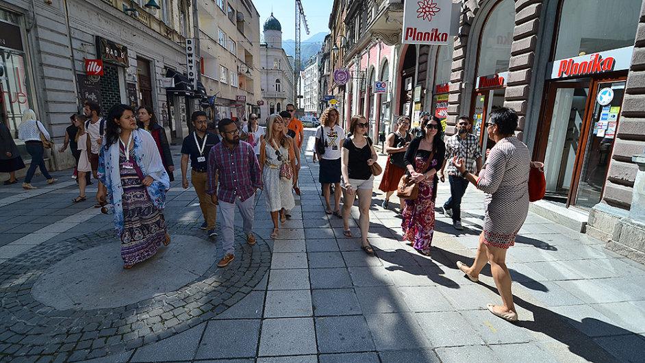 Festival zorganizoval také komentované prohlídky po městě.