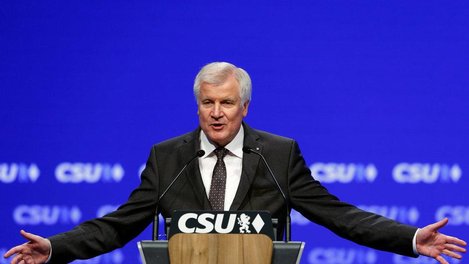 Horst Seehofer na sjezdu CSU v Mnichově, listopad 2016