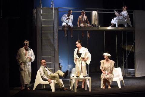 Snímek ze zkoušek Platonova ve Slováckém divadle.
