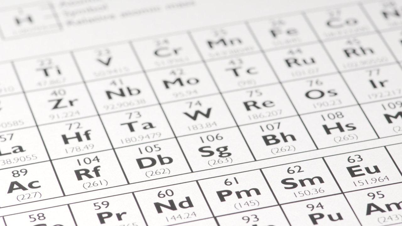 Periodická tabulka prvků, chemie, látky, atom