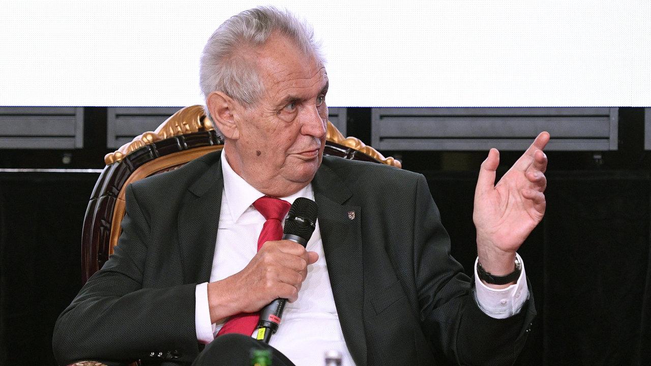 Miloš Zeman na Žofínském fóru.