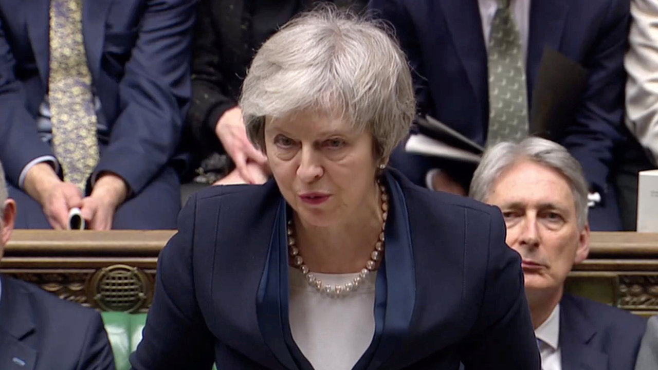 První reakce Theresy Mayové po hlasování o brexitové dohodě