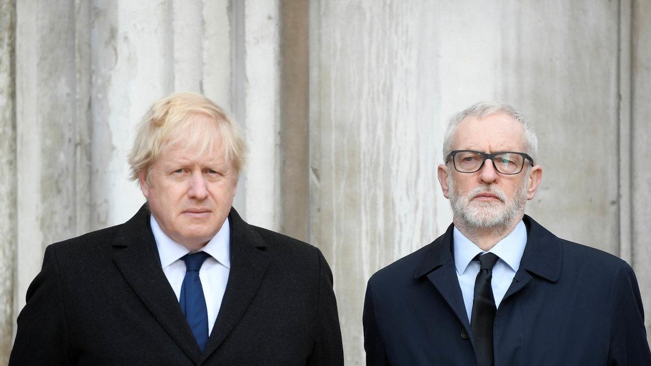 Johnsona, nebo Corbyna? Zatímco konzervativci premiéra Borise Johnsona nabízejí rychlý brexit, labouristé Jeremyho Corbyna slibují nové referendum.