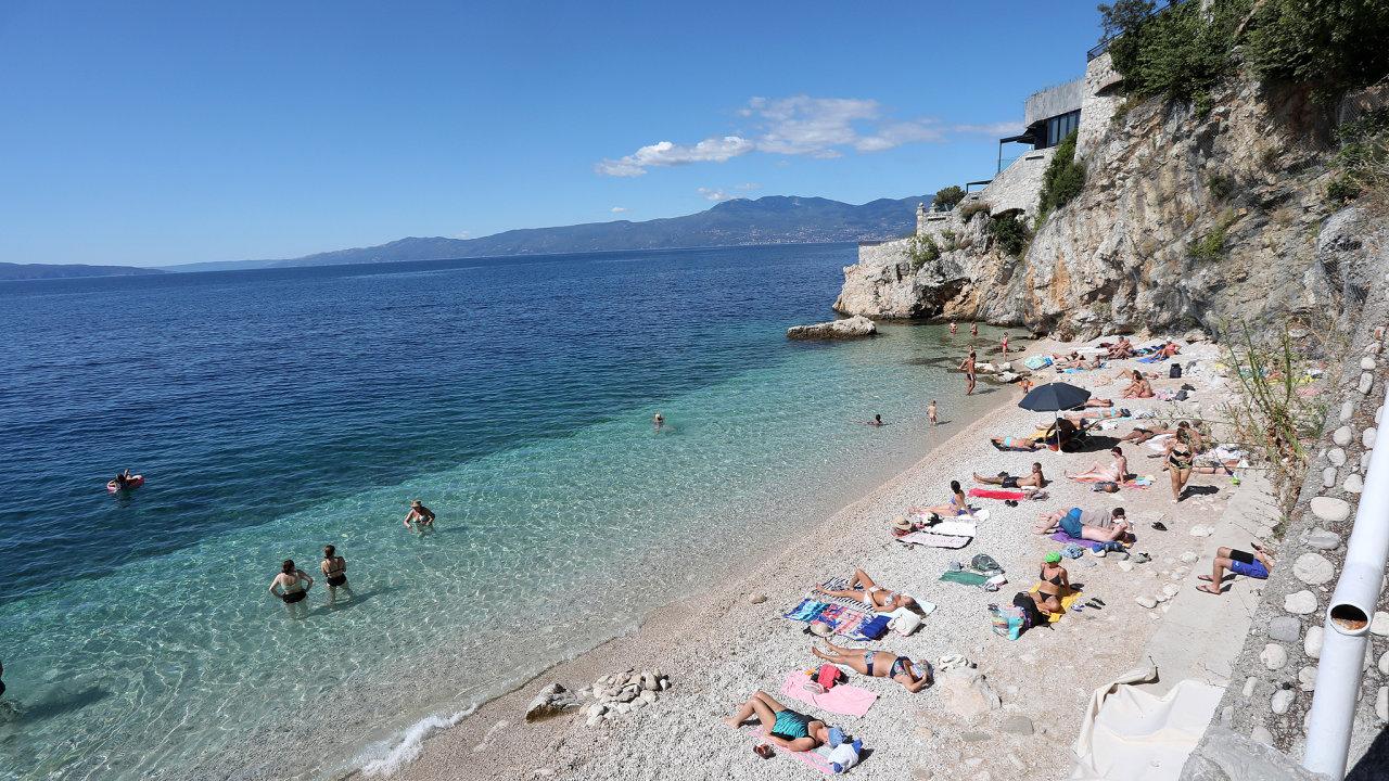 chorvatsko, pláž, moře