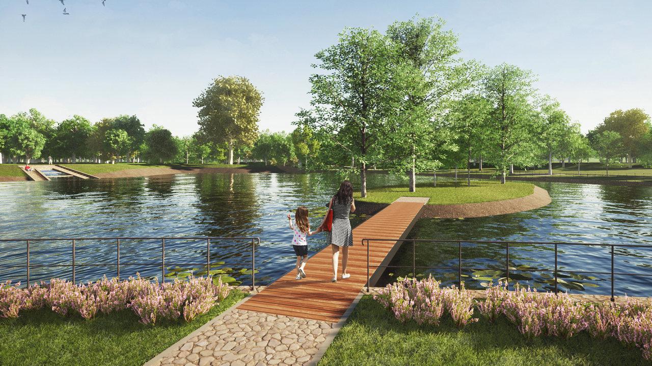 Nový rybník na Letné. V pražských Letenských sadech vzniká nový vodní plocha s odpočinkovou zónou.