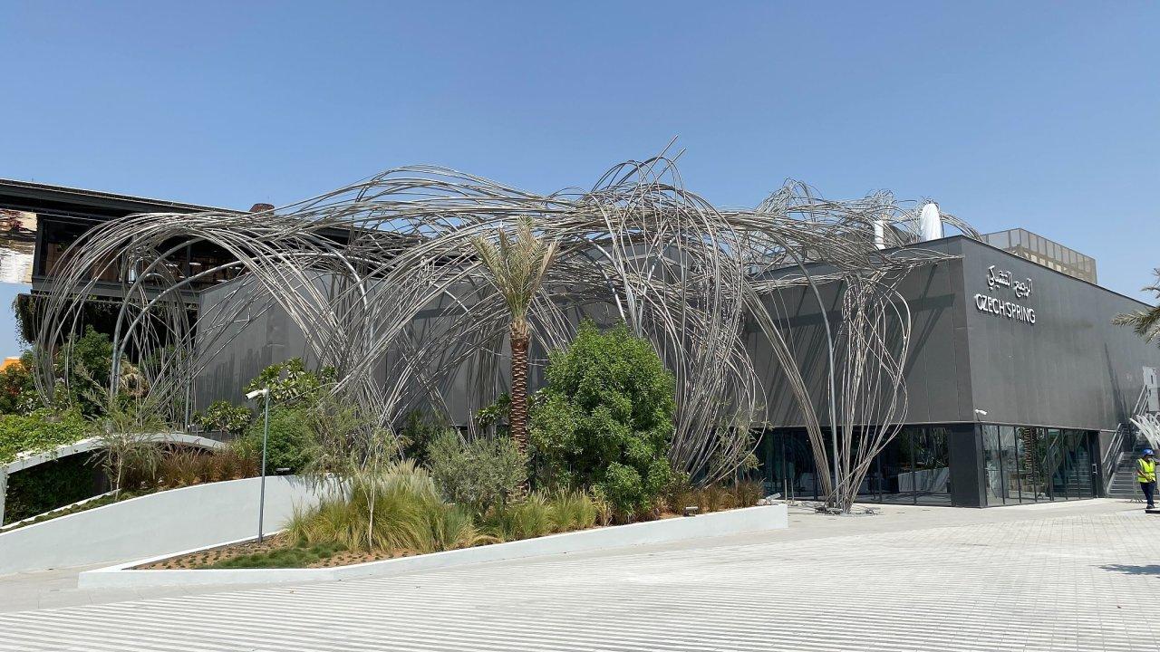 Český pavilon několik dní před zahájením světové výstavy Expo 2020 v Dubaji.