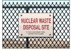 varování před jaderným odpadem
