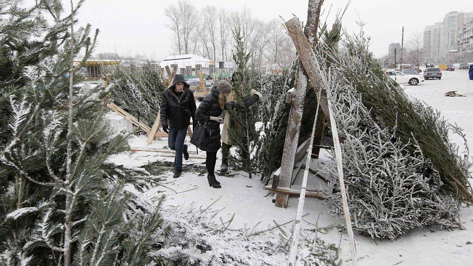 Ruská zima. Ilustrační foto