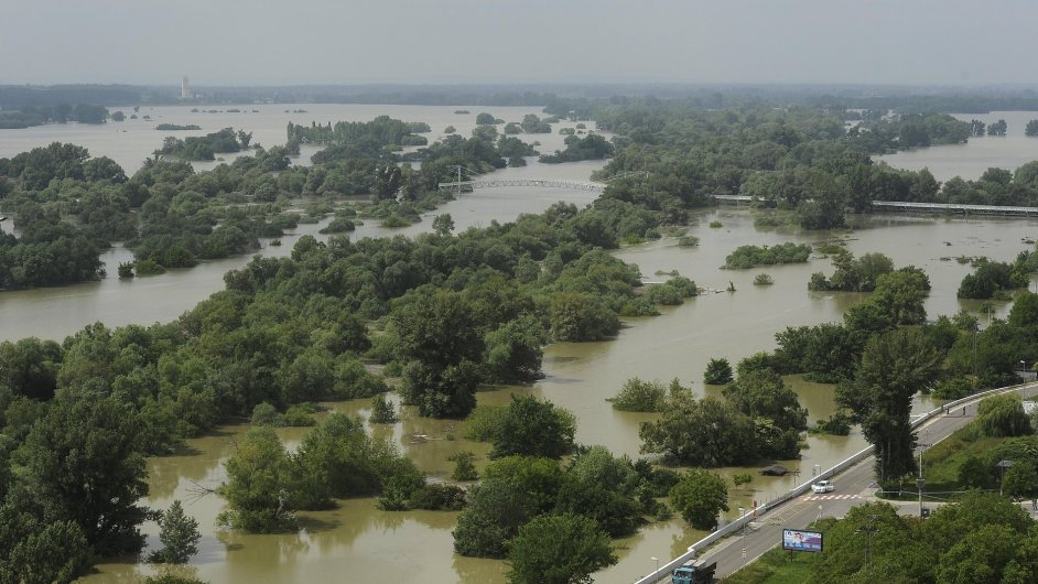 Záplavy v okolí Bratislavy