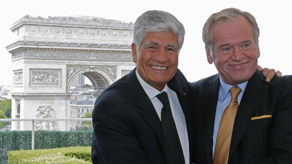 Domluveni. Šéf francouzské Publicis Maurice Levy (vlevo) se se svým protějškem z amerického Omnicomu Johnem Wrenem dohodl na fúzi obou skupin.