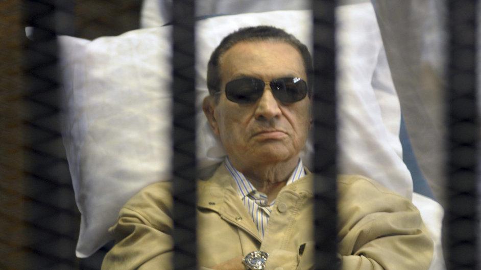 Husní Mubárak v soudní síni