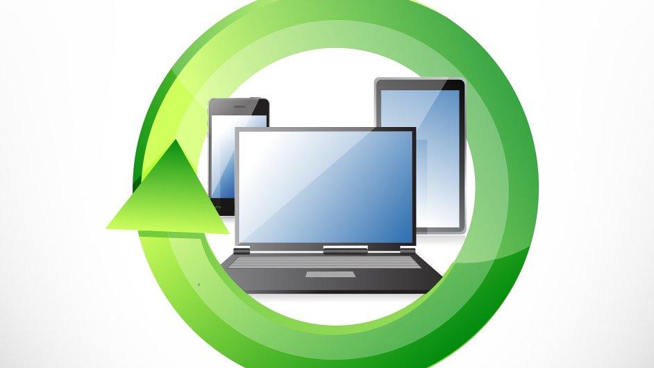Mobilní zařízení - mobil, notebook, tablet. Ilustrační foto