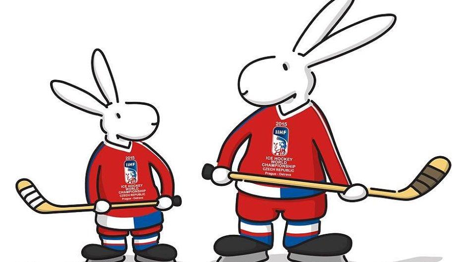 Bob a Bobek byly maskoty MS v hokeji.