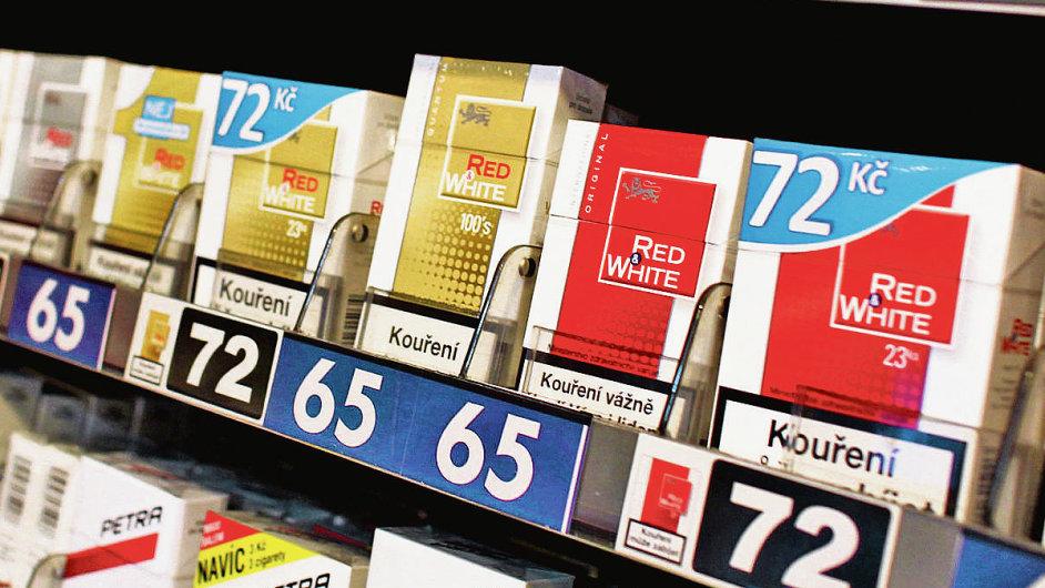 Prodej cigaret, ilustrační foto
