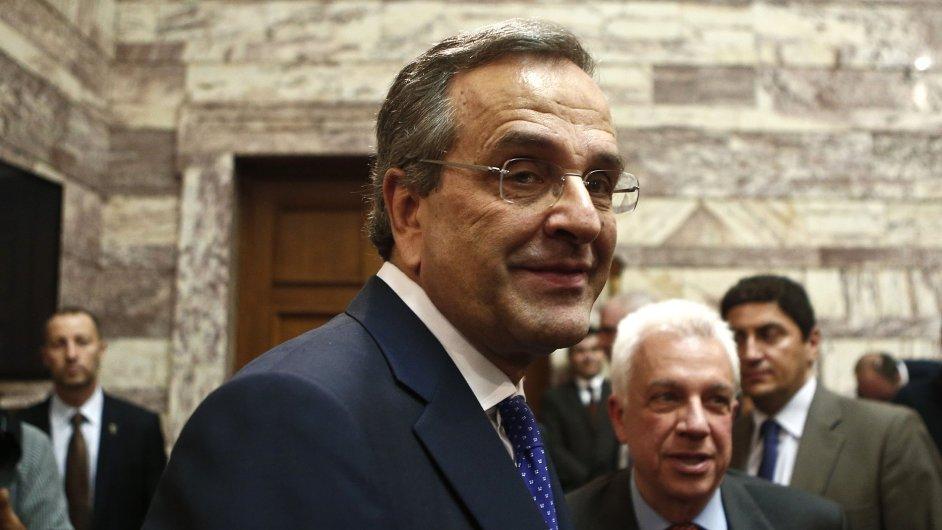 Řecký ministerský předseda Antonis Samaras už nemá moc možností, jak odvrátit předčasné volby.