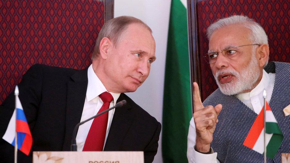 Putin a Modi, Indie, říjen 2016
