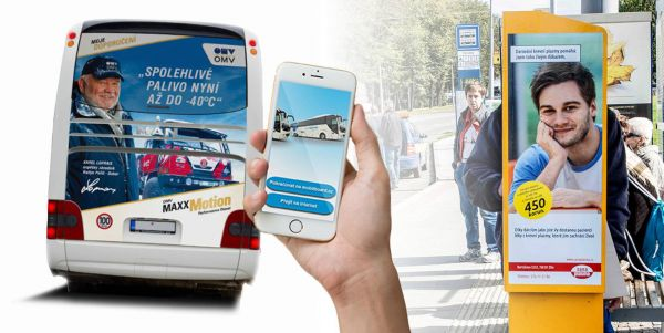 Výhody transportu:Vysoká frekvence zhlédnutí, velký počet impresí