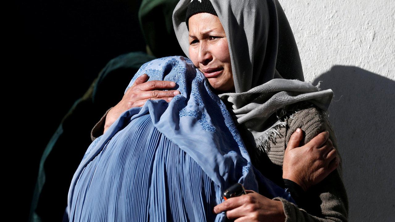 Ženy po útoku v Kábulu, Afghánistán¨