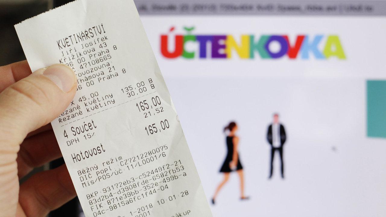 Ilustrační fotografie, účtenkovka, účtenková loterie, EET, 2018