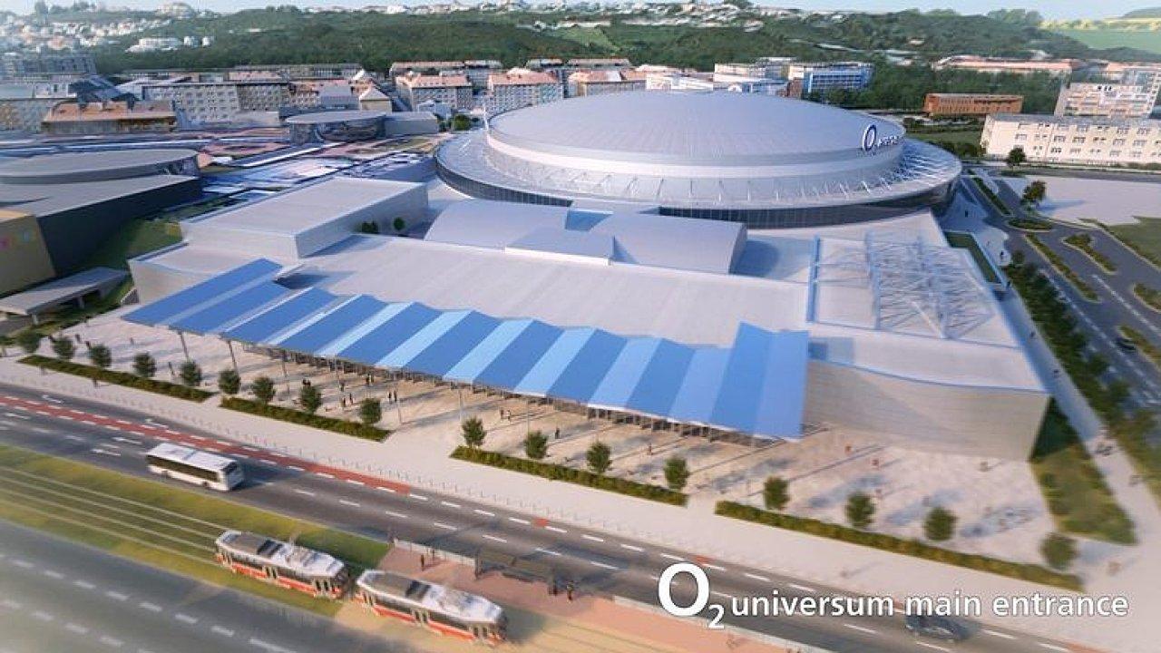 Vizualizace nových sálů O2 arény.