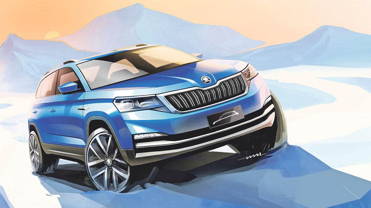 Škoda Auto zveřejnila první skici městského SUV Kamiq, které je určeno pro čínský trh.