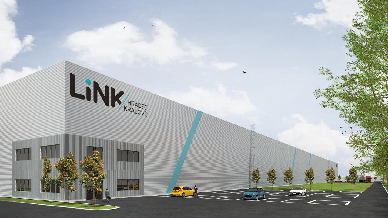 Vizualizace logistického parku LiNK Hradec Králové