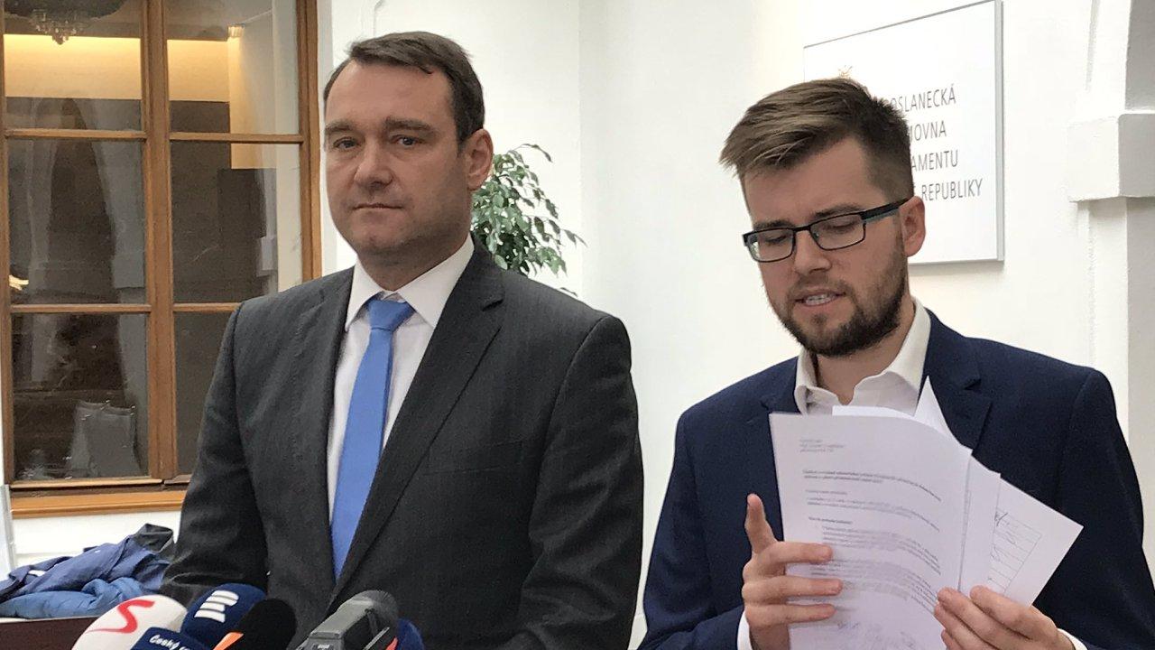 Piráti společně s SPD chtějí zamezit prudkému zvýšení poslaneckých platů.