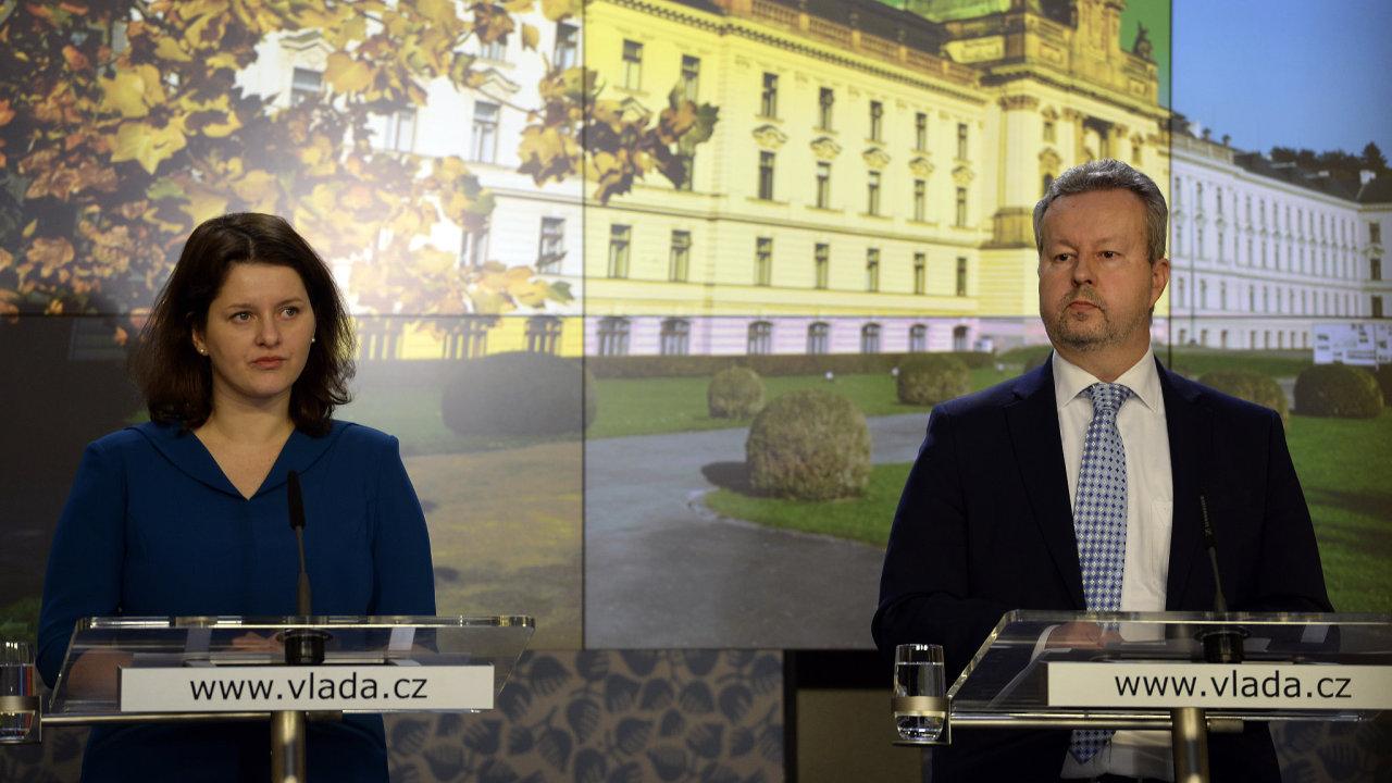 Jana Maláčová (ČSSD) a Richard Brabec (ANO).