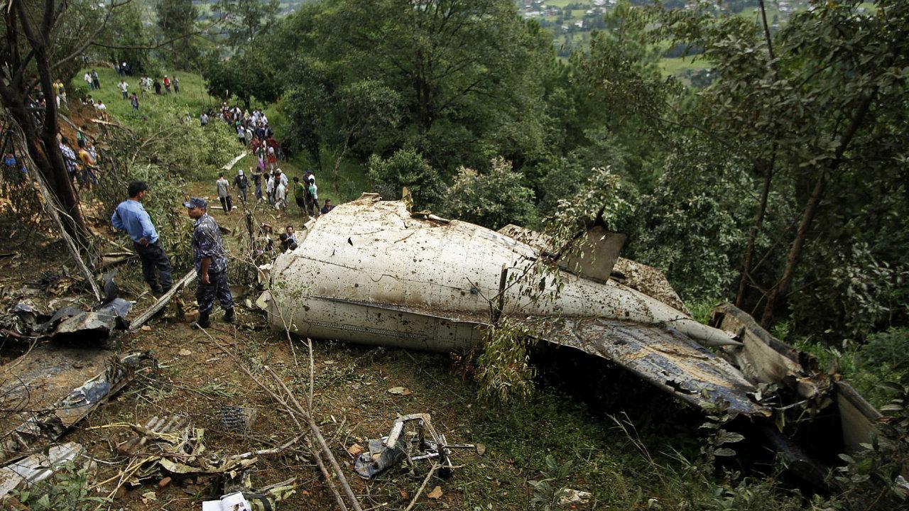 Havárie letadla v Nepálu.