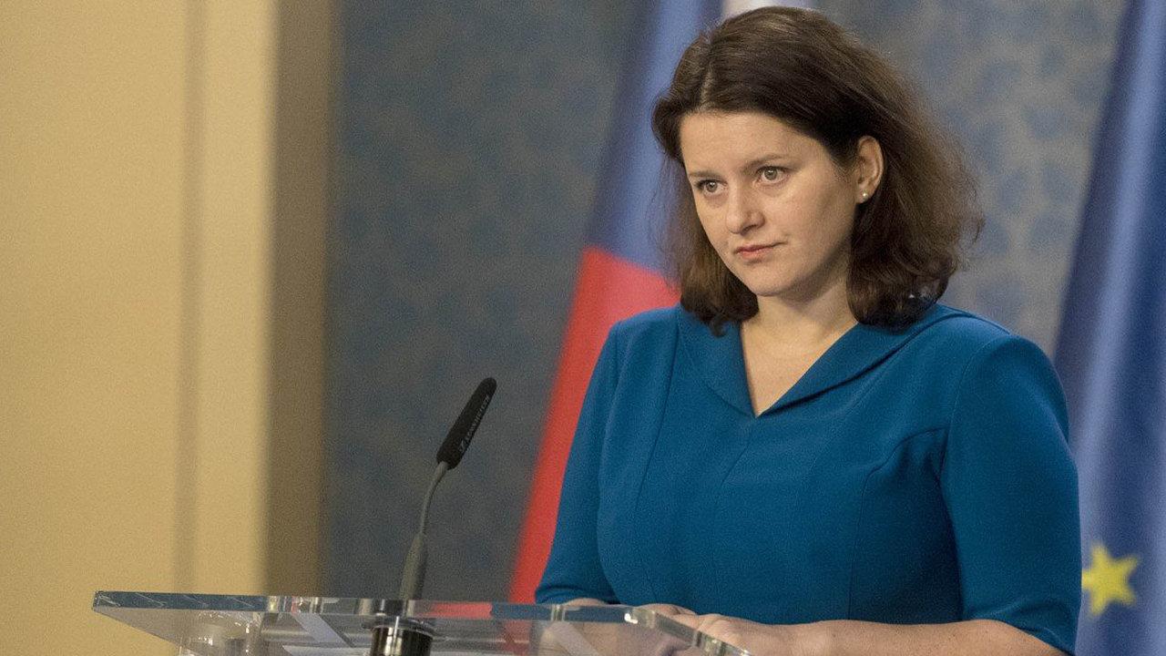 Jana Maláčová, ministryně práce a sociálních věcí za ČSSD