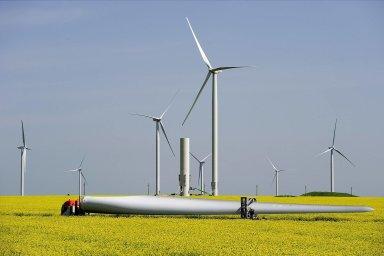 Větrná elektrárna ČEZ v Rumunsku. - Ilustrační foto.