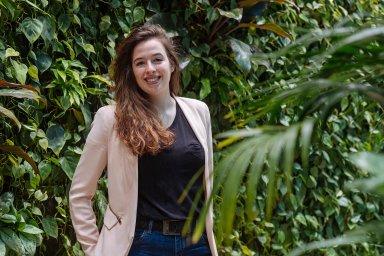 """""""NaČZU jsem celý semestr dost zaneprázdněná, někdy nemám čas ani jít ven nebo se dostatečně vyspat,"""" říká studentka Chiara Sopartová."""