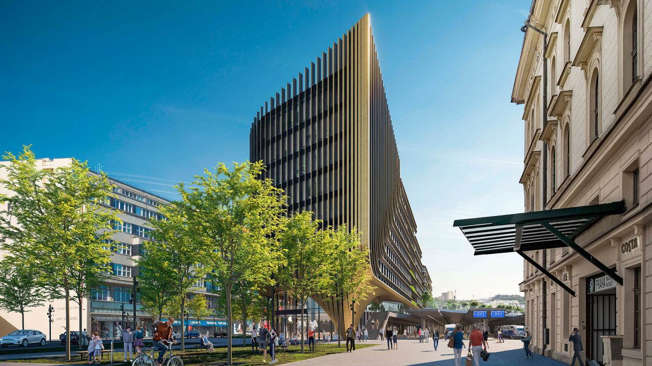 Nová podoba Masaryčky. Dominantou nové čtvrti uvnitř centra metropole se stane budova s výraznými zlatými prvky na fasádě. Navrhla ji světoznámá britská architektka iráckého původu Zaha Hadid.