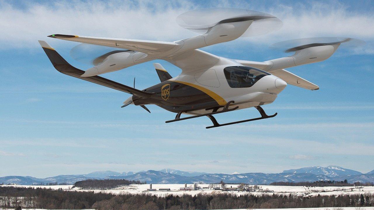 Elektrický letoun s vertikálním vzletem a přistáním eVTOL Alia od společnosti Beta Technologies.