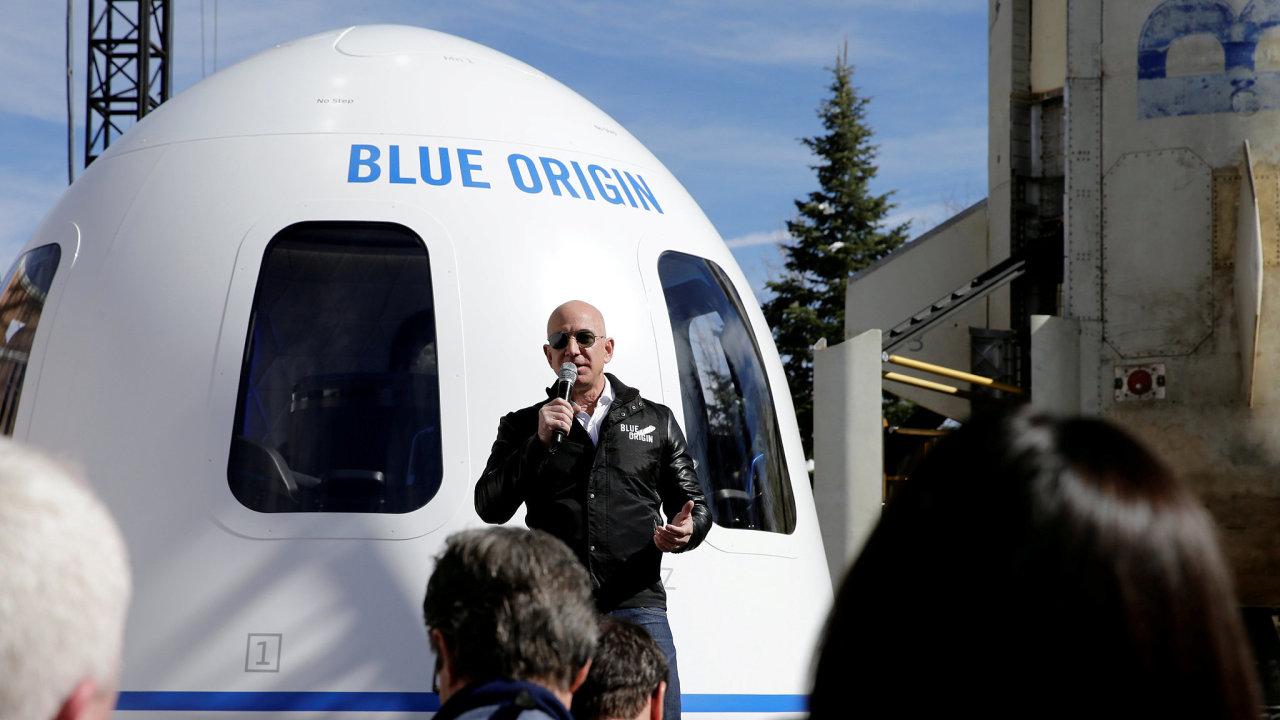 Jeff Bezos a Blue Origin